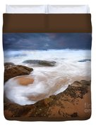 Angry Sea Duvet Cover by Mike  Dawson