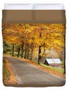 Autumn Road Duvet Cover by Brian Jannsen