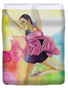 Ballet Dancer Duvet Cover by Corporate Art Task Force