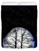 Black Cat On Tree Duvet Cover by Nina Ficur Feenan