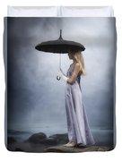 Black Umbrella Duvet Cover by Joana Kruse
