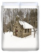 Chapel In The Woods Stowe Vermont Duvet Cover by Edward Fielding