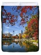 Charlotte North Carolina Marshall Park Duvet Cover by Jill Lang