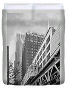 Chicago Loop 'l' Duvet Cover by Christine Till