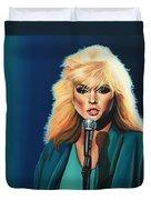 Deborah Harry Or Blondie Duvet Cover by Paul Meijering