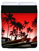 Fins N' Palms Duvet Cover by Sean Davey