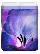 From The Heart Of A Flower Blue Duvet Cover by Gina De Gorna