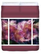 Gladiola Nebula Triptych Duvet Cover by Peter Piatt