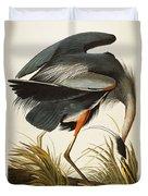 Great Blue Heron Duvet Cover by John James Audubon