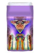 2 Headed Lizard  Duvet Cover by Belinda Lee