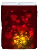 Hearts Background Duvet Cover by Carlos Caetano
