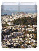 Homes Of San Francisco Duvet Cover by B Christopher