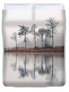 Loch Ard Reflections Duvet Cover by Grant Glendinning