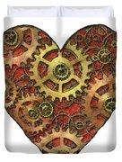 mechanical heart Duvet Cover by Michal Boubin