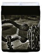 Old Rusty Anchor Duvet Cover by Erik Brede