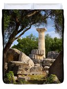 Olympia Ruins Duvet Cover by Brian Jannsen