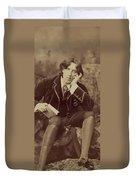 Oscar Wilde 1882 Duvet Cover by Napoleon Sarony