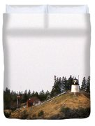 OWLS HEAD LIGHTHOUSE Duvet Cover by Skip Willits