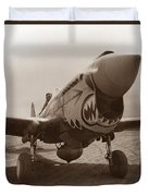 P-40 Warhawk Duvet Cover by War Is Hell Store