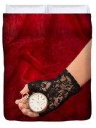 Pocket Watch Duvet Cover by Amanda Elwell