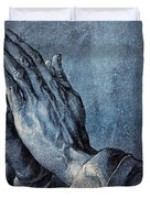Praying Hands Duvet Cover by Albrecht Durer
