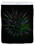 Psychedelic Fireworks Duvet Cover by John Stephens