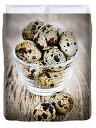 Quail Eggs Duvet Cover by Elena Elisseeva