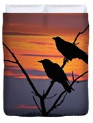 2 Ravens Duvet Cover by Ron Day