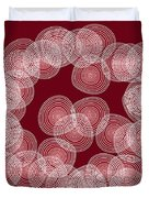 Red Abstract Circles Duvet Cover by Frank Tschakert