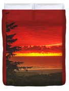Red Pacific Duvet Cover by Robert Bales
