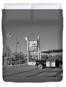 Route 66 - Anns Chicken Fry House Duvet Cover by Frank Romeo