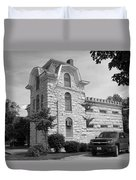 Route 66 - Macoupin County Jail Duvet Cover by Frank Romeo