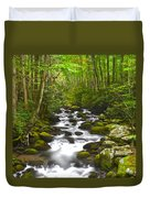 Smoky Mountain Stream Duvet Cover by Frozen in Time Fine Art Photography