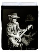 Stevie Ray Vaughan 1984 Duvet Cover by Chuck Spang