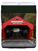 Taftsville Covered Bridge Vermont Duvet Cover by Edward Fielding