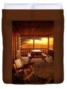 The Cabin Duvet Cover by Joann Vitali