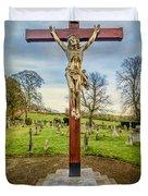 The Cross Duvet Cover by Adrian Evans