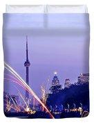 Toronto fireworks Duvet Cover by Elena Elisseeva