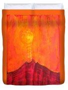 Tres Orejas Original Painting Duvet Cover by Sol Luckman