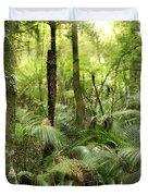 Tropical jungle Duvet Cover by Les Cunliffe