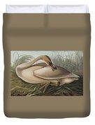 Trumpeter Swan Duvet Cover by John James Audubon
