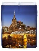 Twilight Over Nashville Tennessee Duvet Cover by Brian Jannsen