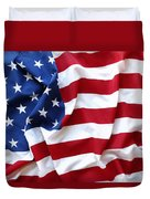 Usa Flag Duvet Cover by Les Cunliffe