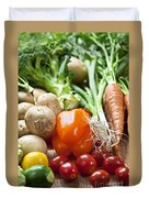 Vegetables Duvet Cover by Elena Elisseeva
