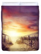 Walkway Duvet Cover by Les Cunliffe