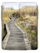 Wetland Walk Duvet Cover by Les Cunliffe