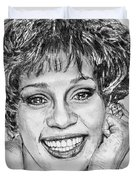 Whitney Houston In 1992 Duvet Cover by J McCombie