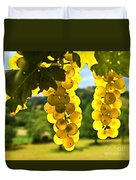 Yellow Grapes Duvet Cover by Elena Elisseeva