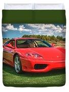 2001 Ferrari 360 Modena Duvet Cover by Sebastian Musial