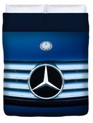 2003 Cl Mercedes Hood Ornament And Emblem Duvet Cover by Jill Reger
